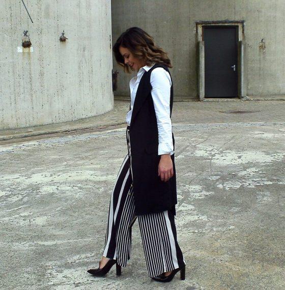 Wide fit trouser | Long blazer